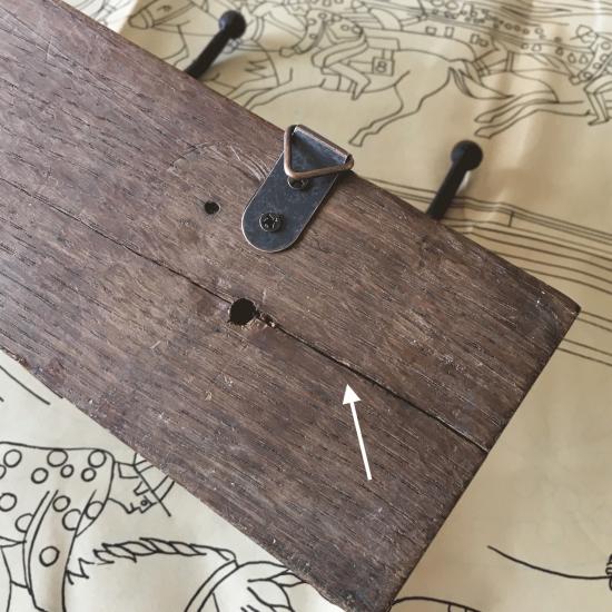フランスアンティーク 木製コートフック3連