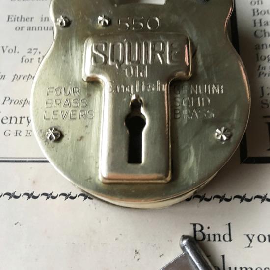 SQUIRE アンティーク南京錠(くまのパドロック)