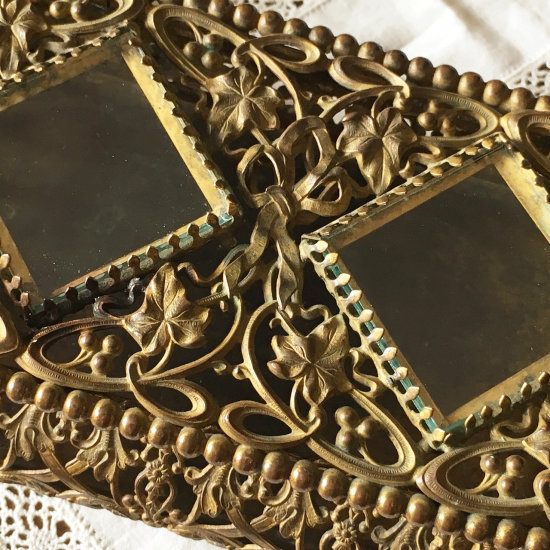 アンティーク 真鍮製ジュエリーボックス
