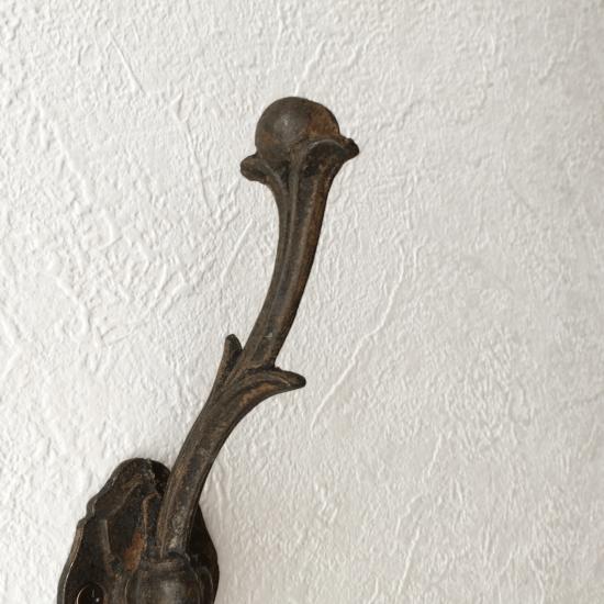 フランス アイアン製 蔓模様のアンティークフック