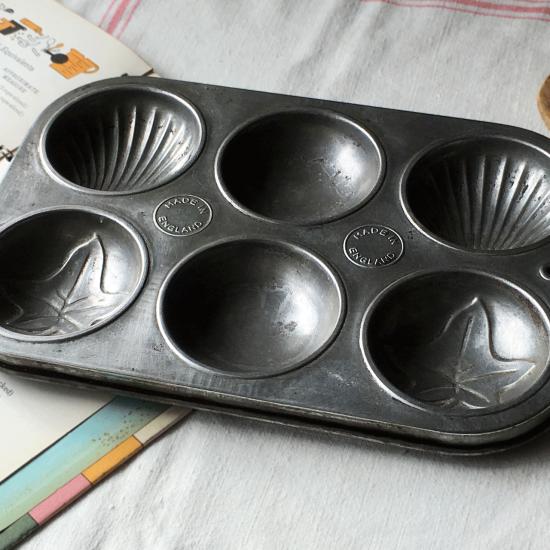 イギリス アンティーク ケーキ型(マドレーヌ 6個)