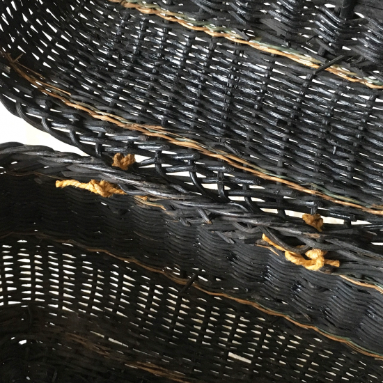 フランスアンティーク 小さなブラックパニエ(サック・ド・フィヨンセ)