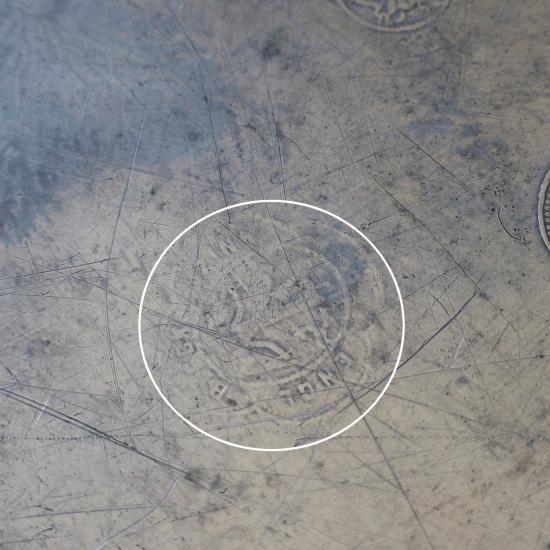 ドイツアンティーク ピューター製 花リムプレート(23.5cm)