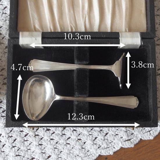 イギリスアンティーク 子供用 小さなシルバーのカトラリーセット(レザーケース付き)