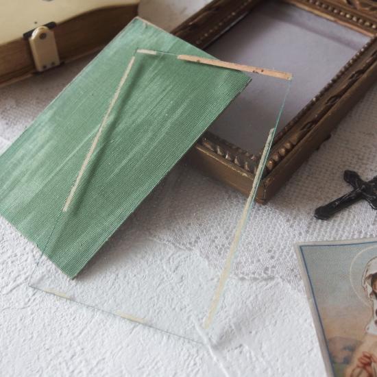 フランスアンティーク リボンのフォトフレーム 手彫りの木製フレーム