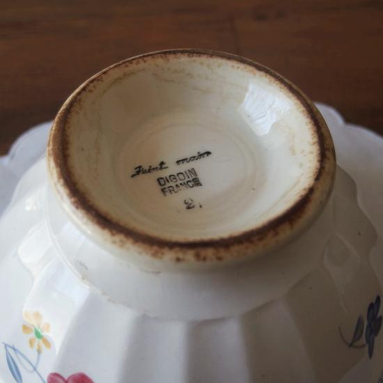 フランスアンティーク ディゴワン カフェオレボウル「マリールー」15.5cm(2)