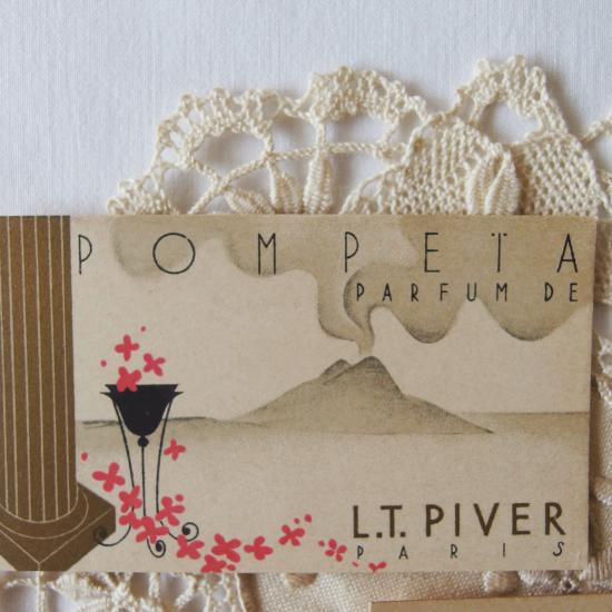 フランスアンティーク L.T PIVER PARIS 香水カード 2枚セット