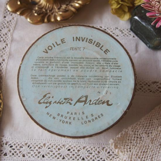 ヴィンテージ エリザベスアーデン ブーケデザインのパウダーボックス