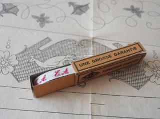 フランスアンティーク イニシャル刺繍テープ(E.A.)