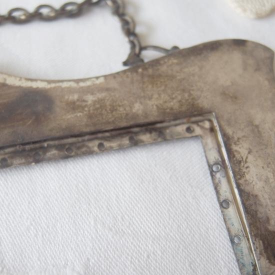 フランスアンティーク シルバー マーガレットのバッグ口金