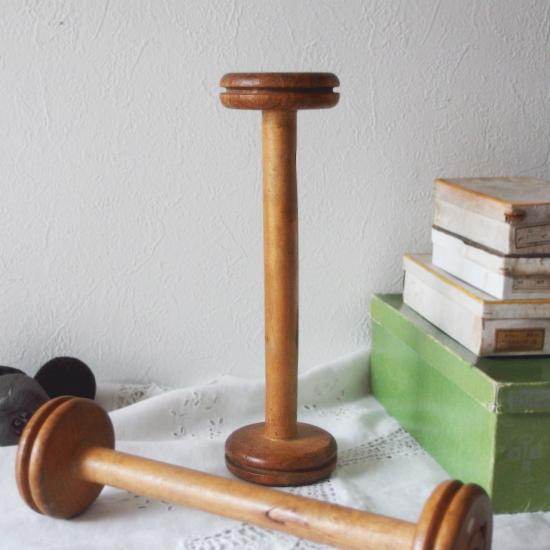 フランスアンティーク 大きな木製ボビン 糸巻き スプール 32cm(2)