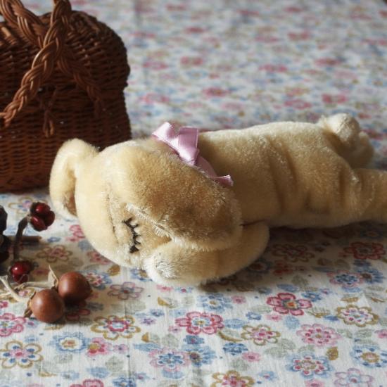 ヴィンテージシュタイフ 眠りうさぎ フロッピーハンズィ(Floppy Hansi)17cm