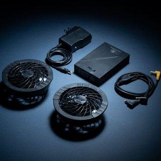 シンメンフルセットパッケージ(ファン2個・二股コード・バッテリー・アダプター)SA-10