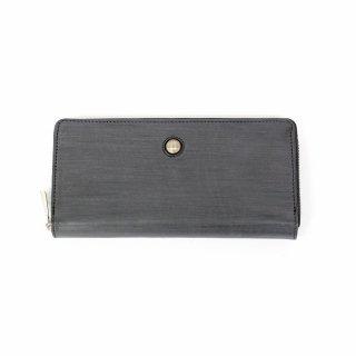 【BASE LEATHER(ベースレザー)】ワックス仕上げのラウンドファスナー長財布