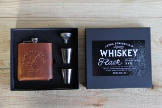 Loyal Stricklin | Signature Whiskey Flask Plane Whisky<br>ロイヤルストリックリン フラスコセット プレーン ウイスキー