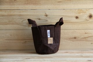 Root Pouch | Brown with handle Non-Degradable 1gal(3.8L)<br/>ルーツポーチ ブラウン 持手付き 非分解性