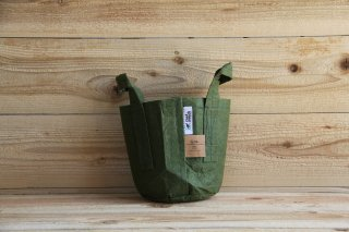 Root Pouch | Green with handle Non-Degradable 1gal(3.8L)<br/>ルーツポーチ グリーン 持手付き 非分解性