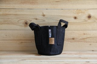 Root Pouch | Black with handle Degradable 1gal(3.8L)<br/>ルーツポーチ ブラック 持手付き 生分解性