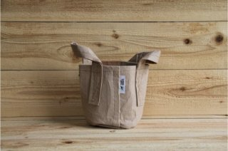 Root Pouch | Tan with handle Non-Degradable 1gal(3.8L)<br/>ルーツポーチ タン 持手付き 非分解性