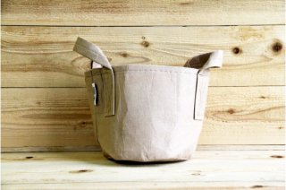 Root Pouch | Tan with handle Non-Degradable 2gal(8L)<br/>ルーツポーチ タン 持手付き 非分解性