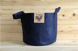 Root Pouch | Navy with handle Non-Degradable 5gal(16L)<br/>ルーツポーチ ネイビー 持手付き 非分解性
