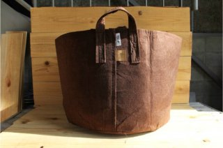 Root Pouch   Brown with handle Non-Degradable 20gal(78L)<br/>ルーツポーチ ブラウン 持手付き 非分解性