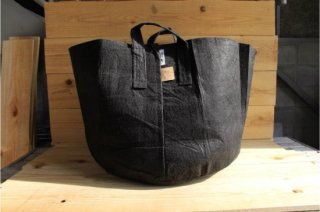 Root Pouch   Black with handle Degradable 20gal(78L)<br />ルーツポーチ ブラック 持手付き 生分解性