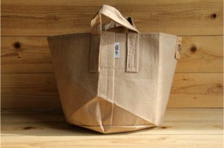 Root Pouch | Tan with handle Non-Degradable 7gal(30L)<br/>ルーツポーチ タン 持手付き 非分解性