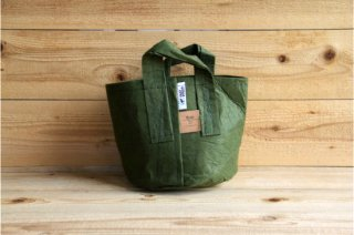 Root Pouch | Green with handle Non-Degradable 2gal(8L)<br/>ルーツポーチ グリーン 持手付き 非分解性