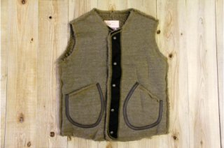 Oregonian Outfitters | Boa Leather Trim Vest Choco<br/>オレゴニアンアウトフィッターズ ボアレザートリムベスト チョコ