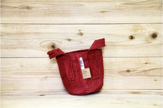 Root Pouch | Red with handle Non-Degradable 1gal(3.8L)<br/>ルーツポーチ レッド 持手付き 非分解性
