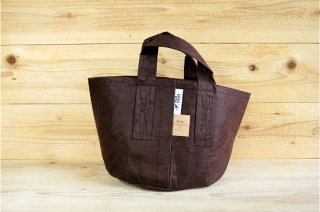 Root Pouch | Brown with handle Non-Degradable 3gal(12L)<br/>ルーツポーチ ブラウン 持手付き 非分解性