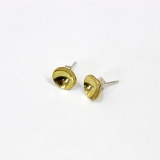 50%OFF】ANOTHER FEATHER アナザーフェザー BRASS CUP STUDS GOLD