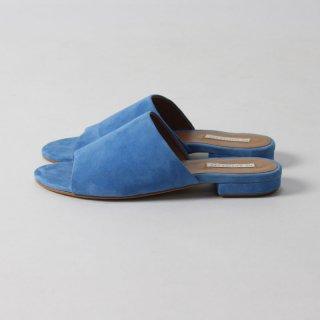【65%OFF】ne Quittez pas   COLOR SUEDE SLIPPER BLUE