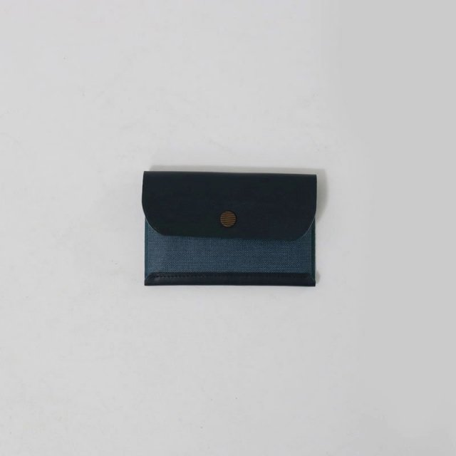 【POSTALCO】SNAP CARD HOLDER NAVY BLUE