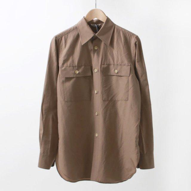 【AURALEE オーラリーレディース】SILK COTTON CLOTH BIG SHIRTS LIGHT BROWN