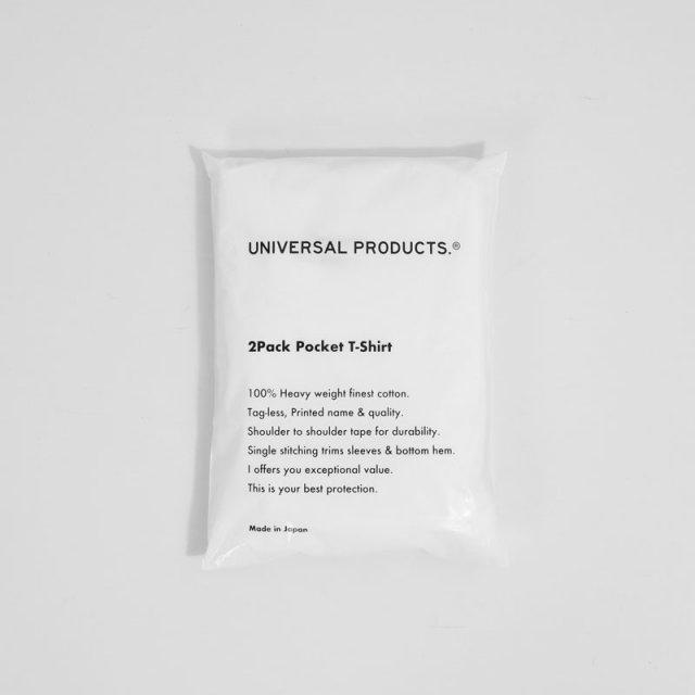 【12月10日再入荷!】【UNIVERSAL PRODUCTS ユニバーサルプロダクツ】2PACK POCKET T-SHIRT