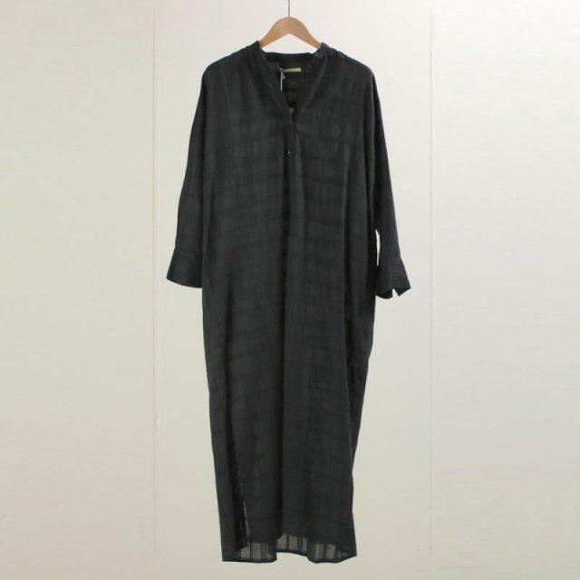 【12月16日再値下げ】【40%OFF】【ne Quittez pas ヌキテパ】CHECK SHIRTS DRESS CHARCOAL