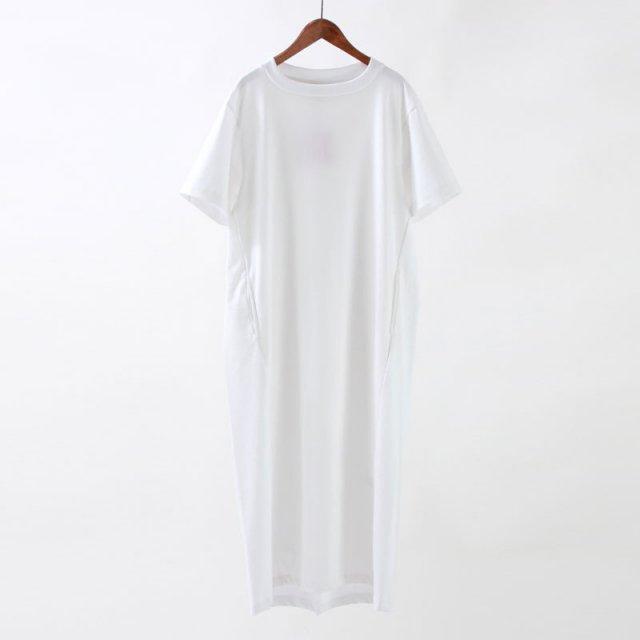 【30%OFF】【unfil アンフィルレディース】ORGANIC COTTON JERSEY T SHIRT DRESS WHITE_