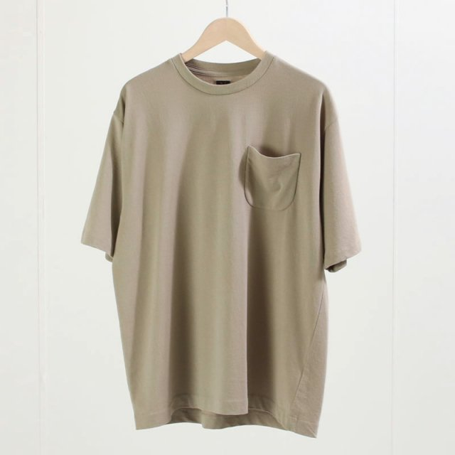 【BATONERバトナーメンズ】TWIST HIGH GAUGE TERRY POCKET T-SHIRT GREGE