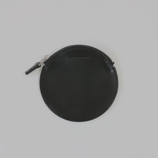 【COSMIC WONDER】NATURALY TANNED LEATHER CIRCLE COIN CASE