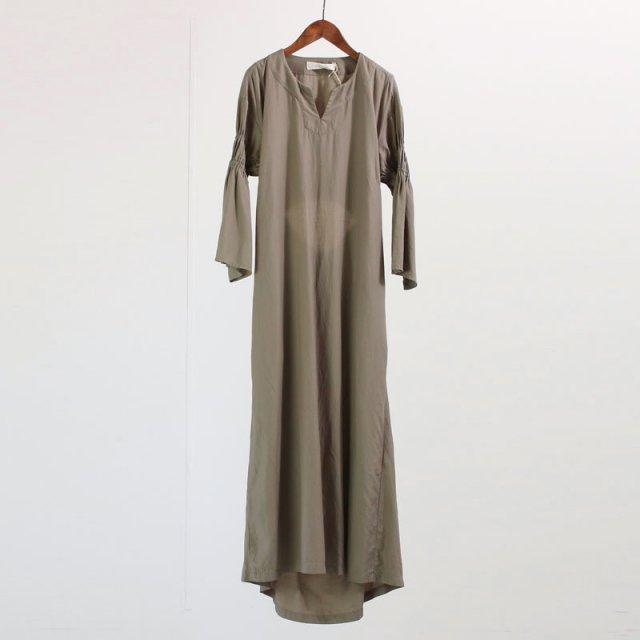 【45%OFF】【R JUBILEE アール ジュビリー】SLEEVE GATHERED DRESS