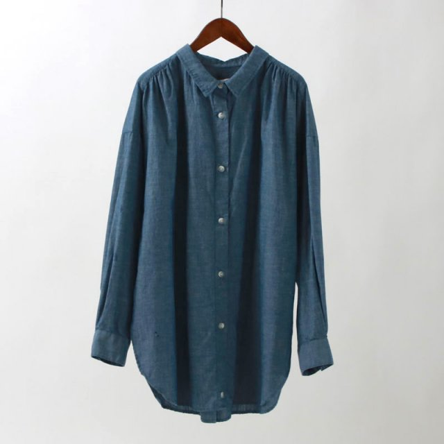 【45%OFF】【R JUBILEE アール ジュビリー】2WAY SHIRTS (DUNGAREE) NAVY