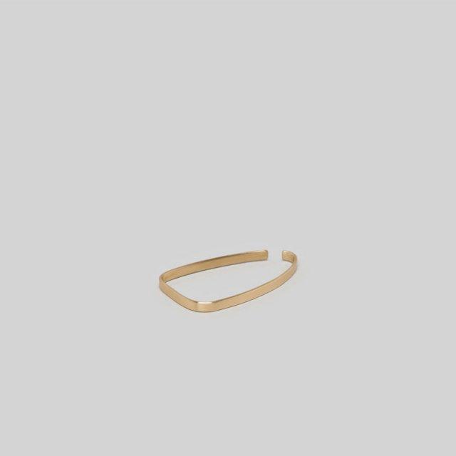 _Fot plate earring square(ear cuff)