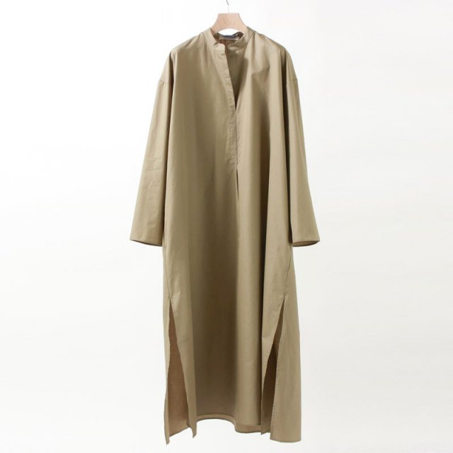 【40%OFF】【Cristaseya クリスタセヤ】LIGHT COTTON CAFTAN DRESS LIGHT KHAKI