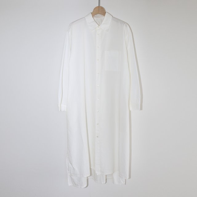 【COSMIC WONDER コズミック ワンダー】BEAUTIFUL ORGANIC COTTON SHIRT DRESS WHITE