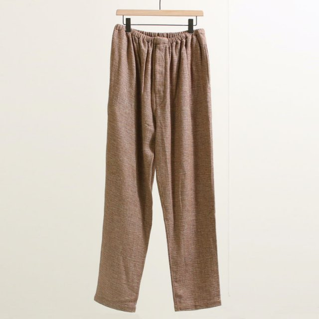 【50%OFF】【SEEALL シーオール】ESSENTIAL ELASTIC PANTS BROWN