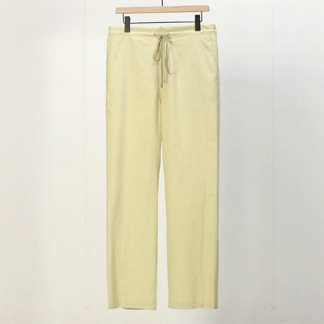 【2021 S/S】【AURALEE オーラリー】WASHED FINX TWILL EASY WIDE PANTS LIGHT YELLOW