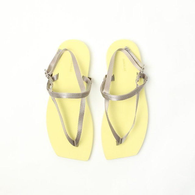 【2021 S/S】【AURALEE オーラリーレディース】BELTED BEACH SANDALS MADE BY FOOT THE COACHER YELLOW × BEIGE
