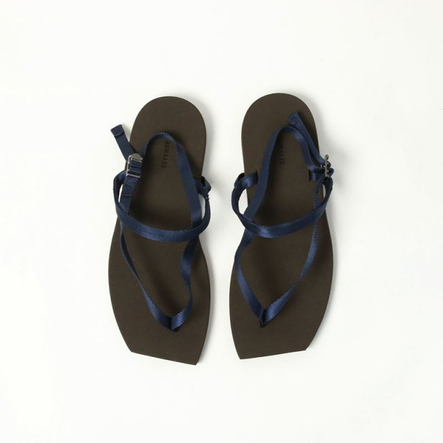 【2021 S/S】【AURALEE オーラリーレディース】BELTED BEACH SANDALS MADE BY FOOT THE COACHER DARK BROWN × NAVY